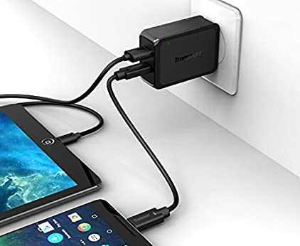 Amazon.com: Quick Charge 3.0 SM-T817T Wall Charger Kit with USB-C & USB Ports and Volt IQ Enhancements. Includes full power USB-C & Micro-USB 2.0 Cables.