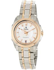 Bulova Womens 98M106 Precisionist Rose and Stainless-Steel Two-Tone Watch