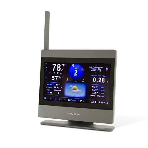 AcuRite Atlas High Definition Touchscreen Weather Station Display (Add-On), Gray AcuRite