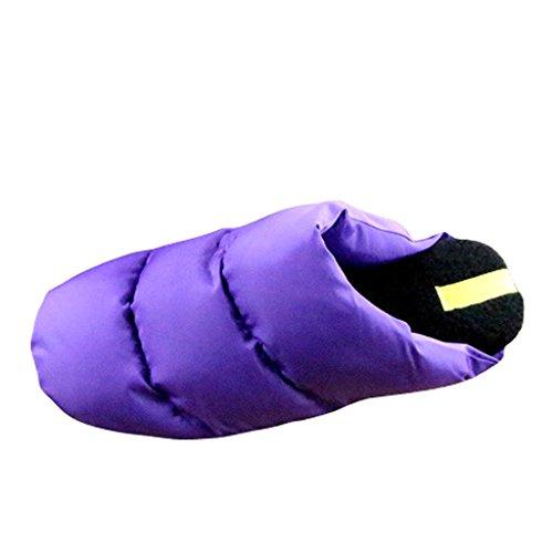 Cher Temps Femmes Hiver Intérieur Chambre Plancher Maison Chaussons Violet