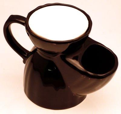 Pottery Shaving mug with soap tablet, black Progress Vulfix BSM