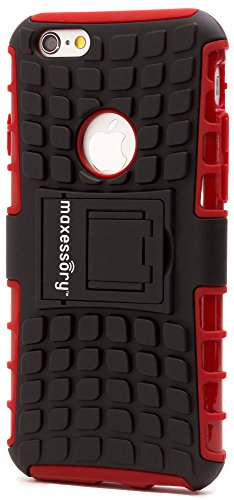 (iPhone 6s (4.7 Inch) Case, Maxessory Red Offroad Shock-Proof Rugged Dual-Layer Armor Rigid Ultra-Slim Kickstand Protective Hard Tough Hybrid Phone Cover Shell)