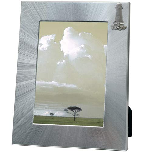 1pc, Pewter Lighthouse Frame, 5x7 ()