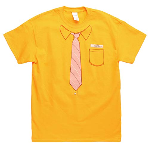 The Office Dwight Neck-Tie Work Shirt Mustard T-shirt Tee Medium