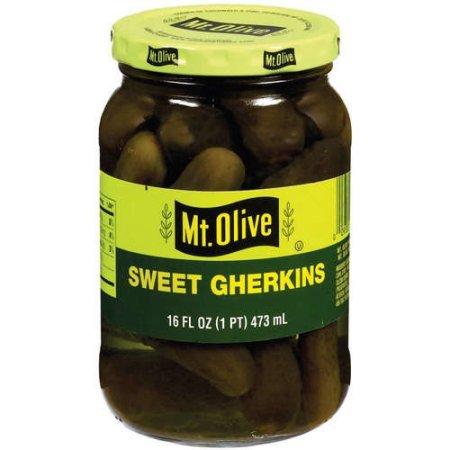 Mt. Olive Sweet Gherkins Pickles, 16 Oz Jars (Pack of 3, Total of 48 ()