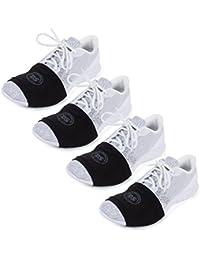 100% USA Made Over Sneaker Dance Socks, Smooth Floors (4 Pair Packs)