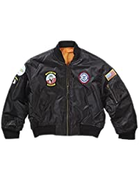 Top Gun Boys' Ma-1 Flight Jacket Army Clothing Us Airforce Bomber Pilot