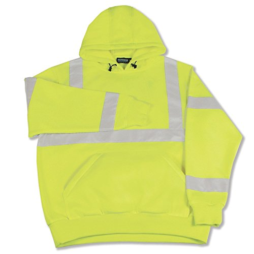 ERB 61546 S376 Class 3 Pull Over Safety Sweat Shirt, Lime, 5X-Large