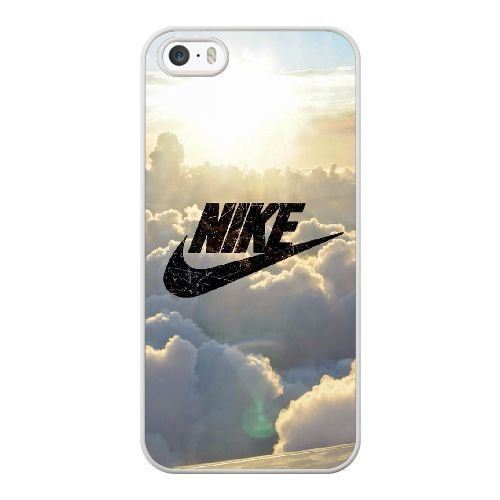 Wunatin Hard Case ,iPhone 5 5S Cell Phone Case White Nike logo In the clouds [with Free Tempered Glass Screen Protector]5691265311335