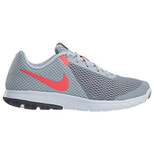 Nike Flex Experience RN 6 Wolf Grey/Hot Punch/Pure Platinum Womens Running Shoes (9.5)