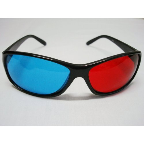 3D anaglyph glasses red/cyan for movies or games!