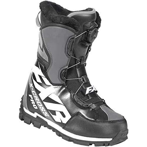 FXR Racing XCROSS Pro Boa Snow Boot '19 Black/White/Charcoal Mens 11/EU45