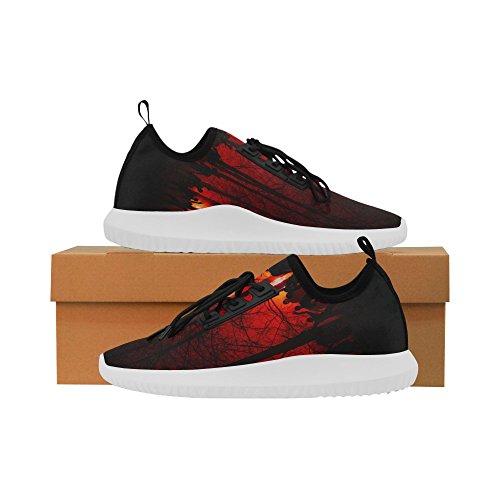InterestPrint zombie Dolphin Ultra Light Running Shoes for Men Halloween Zombie2 2yqtxYKC