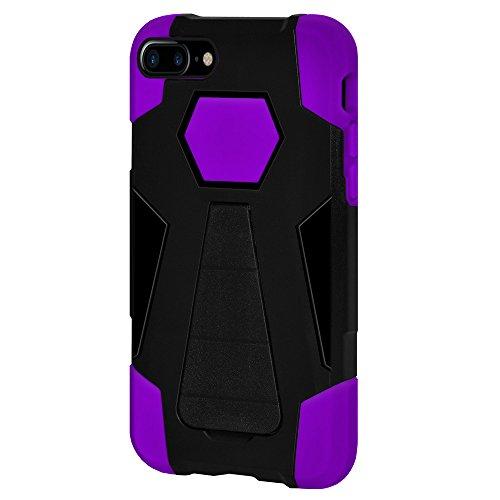 Amzer Coque hybride double couche avec béquille pour Apple iPhone 7Plus–Noir/Violet