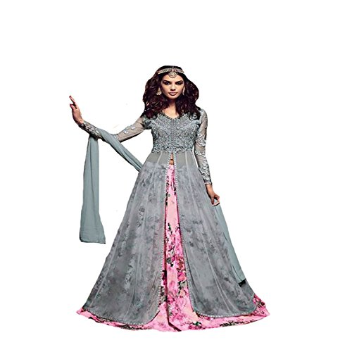 Bollywood Collection Indo western Gown Indian Ceremony wedding Party wear8769