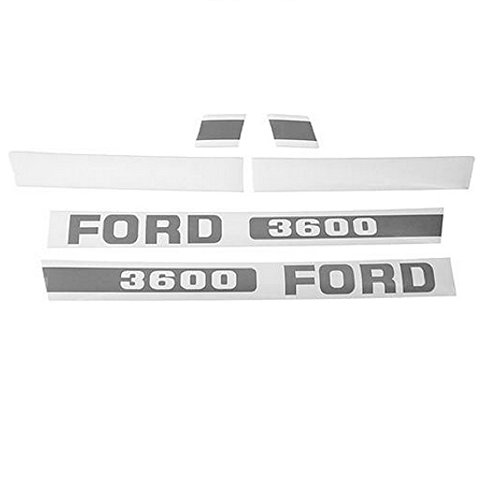 - F509H1 New Blue Hood Decal Set Made to fit Ford/New Holland Tractor 3600