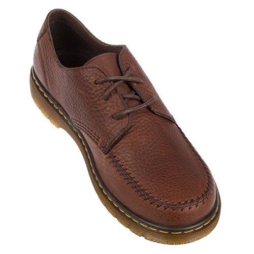 Dr. Martens Men's Hanneman Grizzly Casual Lace up Sneaker Shoe Dark Brown gShOBCBL