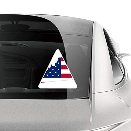 DIYthinker Kentucky USA Map Stars Stripes Flag Shape Car Sticker Motorcycle Bicycle Styling Decal