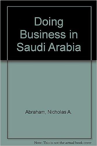 Doing Business in Saudi Arabia: Nicholas A  Abraham: 9780934592017