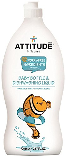 Attitude Baby Bottle and Dishwashing Liquid Fragrance Free, Fragrance Free, 23.7 Fluid Ounce
