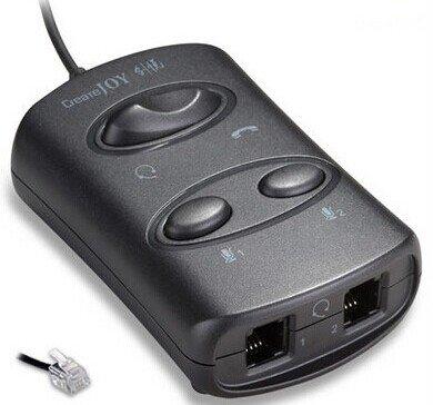 Dual Handset Phone (RJ9 Handset/Headset Switch Box Headset Adapter TWO Mute Switch RJ9 Handset Plug to Dual RJ9 Splitter)