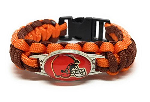 SportsBraceletsPro Military Grade Paracord American Football Team Adult 7.7