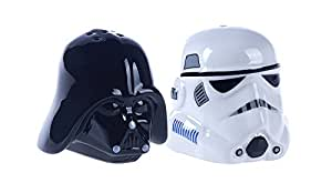 Star Wars Ceramic Darth Vader and Storm Trooper Salt and Pepper Shakers