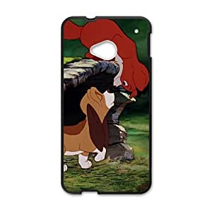 HTC One M7 Cell Phone Case Covers Black Fox and the Hound Brukt