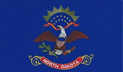 [5in x 3in North Dakota State Flag Bumper Sticker Decal Window Stickers Car Decals by StickerTalk] (Dakota State Flag Decal)