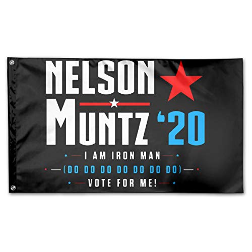 Vote Nelson Muntz 2020 Simpsons Election 100% Polyester House Flag Decorative Garden Flag Yard Banner Garden Flags 3x5