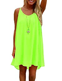 Efanr Womens Summer Sexy Vibrant Color Chiffon Bathing Suit Cover Up