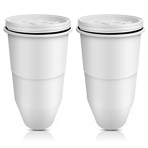 Waterdrop ZR-017 Replacement Pitcher Water Filters, Compatible with ZeroWater Pitcher Water Filter and ZeroWater Dispenser Water Filter (2 Pack)
