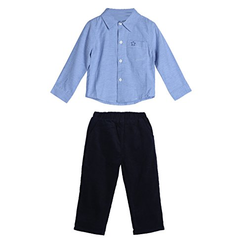 - Diamondo Baby Toddler Kids Boys Long Sleeve Shirt Pants Trousers Clothes Outfit Set (Age(Month): 6-12M)