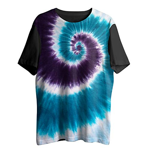(MuaToo Ocean Series - Tie Dye Colors Tees Hippie Swirl T-Shirts Youth & Adult)