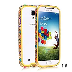 DUR SHENGO? Luxury Crystal Rhinestone Inlaid Style With Soft TPU Insert Protection Metal Case for Samsung S4 i9500 , 5#