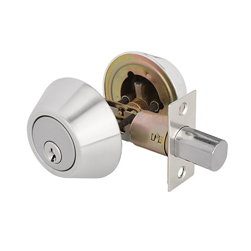 TOGU ANSI GRADE 3 Heavy Duty Double Cylinder Deadbolt with Adjustable Backset,KW1 Keyways,Front Door lock For Home Entry Doors,Satin Nickel