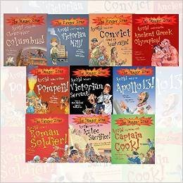 The Danger Zone Collection 10 Books Children Gift Set Pack, Avoid being a... (Exploring with Captain Cook!, Becoming an Aztec Sacrifice!, on Apollo 13!, Entering the Greek Olympics, Victorian Servan, Convict Sent to Australia!, Working in a Victorian