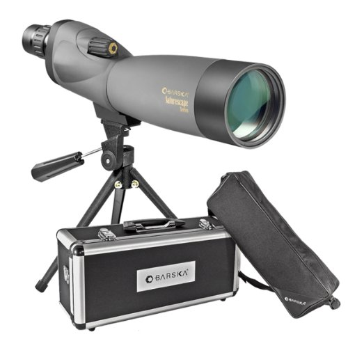 BARSKA Naturescape 20-60x60 Waterproof Spotting Scope w/ Tripod, Soft Carry Case & Premium Hard Case by BARSKA