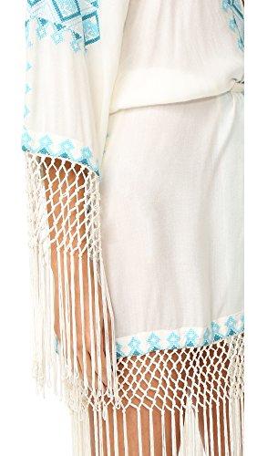 Melissa Odabash Women's Dana Robe, Cream/Teal, One Size
