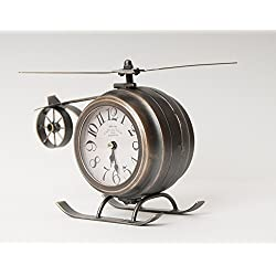 Epoch Lane Vintage Helicopter Metal Double-sided Table Desk Clock (Bronze) ...