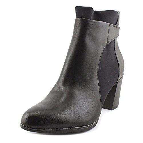 Clarks Women's Araya Turner Black Leather/Suede Combo Boot 8 B (M)