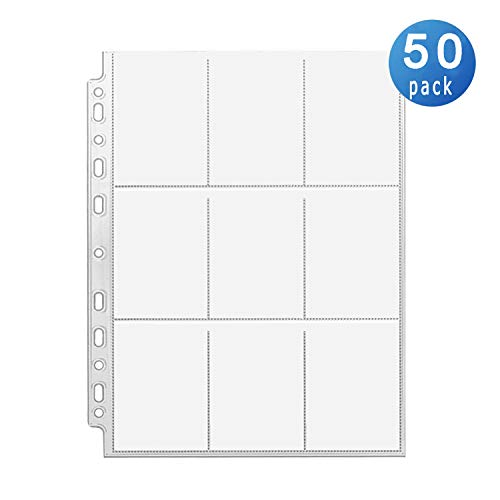 450 Pockets Trading Card Sleeves Storage Wallets Album Pages, Transparent Game Card Sleeves Holder Coin Holders Wallets Sleeves Set Perfect for Pokemon,Skylanders, Top Trumps