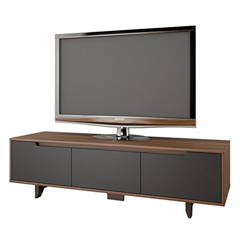 Nexera 107042 Alibi TV Stand, Walnut & Charcoal Grey (Nexera Stand Tv)