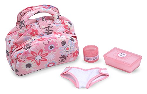 [Melissa & Doug Mine to Love Doll Diaper Changing Set With Bag, Wipes, Accessories (7 pcs)] (Four Group Costumes)
