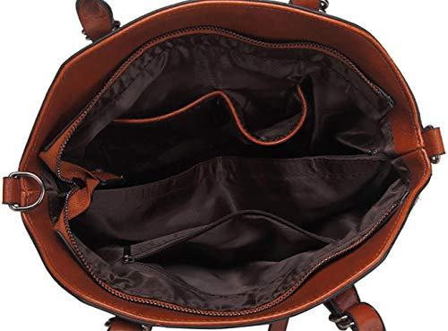 Faux DEERWORD épaule Sacs à Noir Sacs Sacs Femme main Cartable portés Sacs Cuir main Sacs bandoulière portés ff7gp