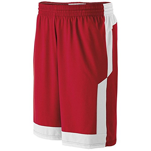 High Five Sportswear - High Five Youth Switch up Reversible Short,Scarlet/White,Large