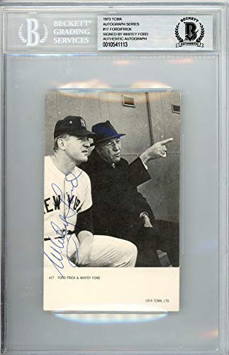 Whitey Ford Signed Auto 1974 TCMA Postcard #17 New York Yankees - Beckett Certified ()