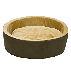 """K&H Pet Products Thermo-Kitty Heated Pet Bed Large Mocha 20"""" 4W"""