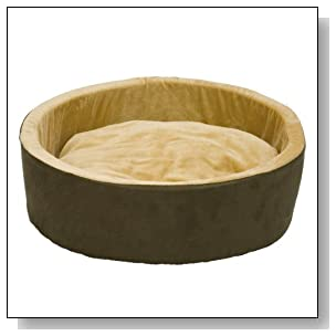K&H Pet Products Thermo-Kitty Heated Pet Bed Large Mocha 20