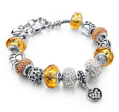 pandora charms dorados